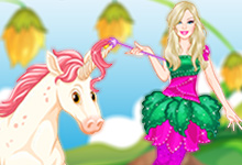Barbies Unicorn Dress Up