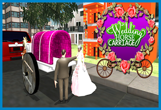 City Wedding Horse Carriage