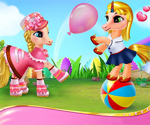 You and your pony pet live in a magical Pony World. There are many places that can be visited and many activities are waiting to be done. But you are not alone. Here you can play with your friends and make new friendships. Go to the spa and enjoy the benefits of the spa center. When you are at home you will have to eat, sleep, drink water and many more so that you can earn points and complete the
