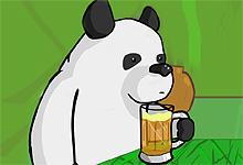 Drinking Panda