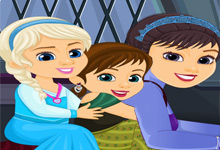 Elsa Anna and their Mom