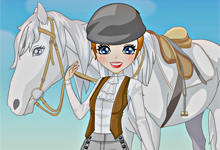 Girls and Horse Dress Up Game