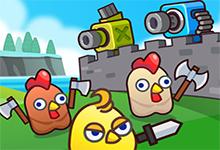 Merge Cannon Chicken Defense