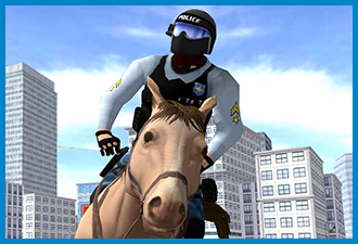 Mounted Police Horse 3D