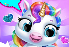 My Baby Unicorn Cute Rainbow Pet Care and Dress Up