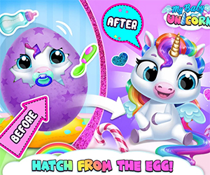 Everyone loves Christmas. This is that time of the year when you need to share the love and this year you got the cutest little baby unicorn. My Baby Unicorn Cute Rainbow Pet Care and Dress Up is a game app that will make your day. This virtual gift will make you become the greatest babysitter, so begin the game and see what will happen.