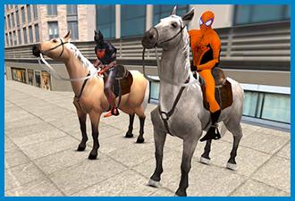 Police Horse Chase Superhero