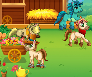 Pony Land is a beautiful game in which you need to take care of your ponies in the Pony Land. Feed them, decorate the environment, play with them and have fun with your virtual friends. If you mate ponies of different species you will get a new breed with its own special features. They are all cute and adorable, but in order to win the races, you really need to take good care of them.