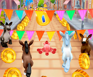Pony Racing 3D is an amazing game app in which you can show your racing skills in a virtual world. Today Pony Racing 3D is one of the most popular racing game apps on the market. You can install this game for free, but there are still ads in the game.