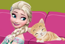 Princess Elsa Kitty Room Cleaning Free Animal Game At Horse Games Org
