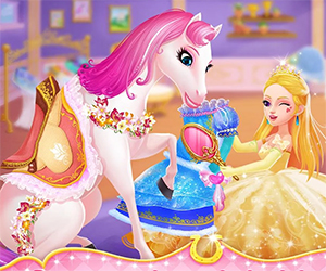 Princess Horse Racing is a fun horse racing game in which you will compete with other princesses. This is mainly a girly game, but we all know that boys too love horse racing, so they can also play the game and have fun. We all know what princess love the most and it is no secret that princess love to dress up.