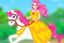 Princess On White Horse