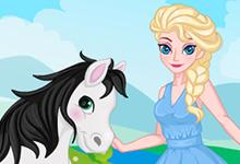 Queen Elsa and Her Horse