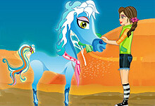 Racing Pony Jumping Game