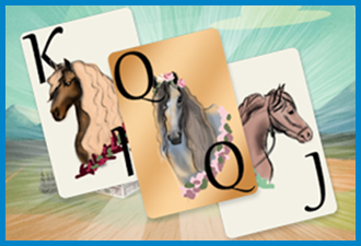 Solitaire Horse Game Cards