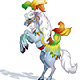 Circus Horse on Hind Legs - Amazing Horse Vector Image