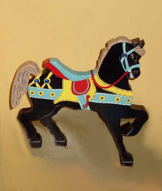 Wood Carousel Horse
