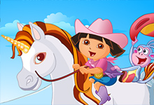 Dora on the Unicorn King