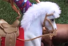 Elsa Horse Riding