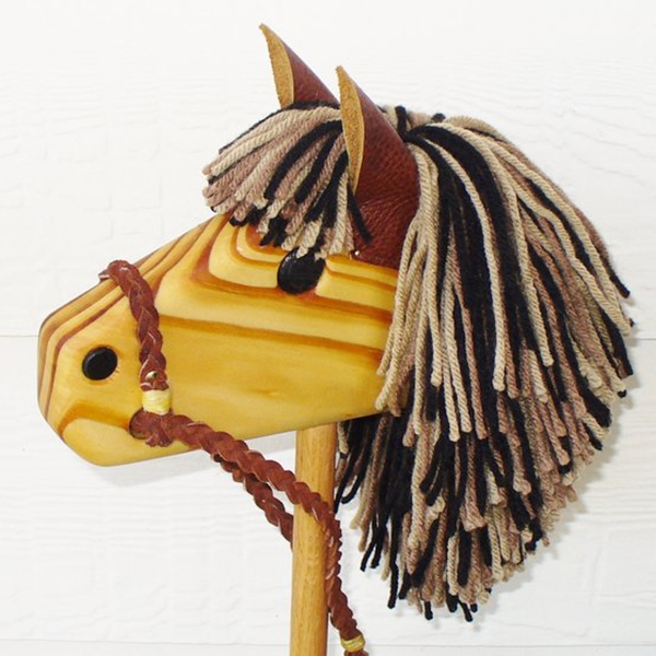 Hand Made Wooden Stick Horse