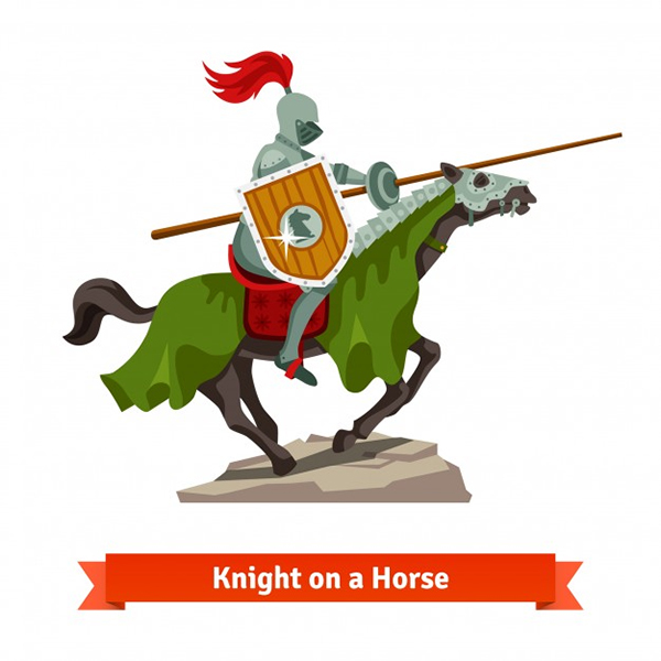 Knight Riding a Horse
