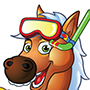 Pony Swimmer Cartoon Mascot - Free Vector