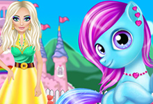 Princess Adorable Pony Caring