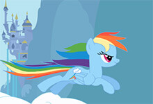 Rainbow Dash Attack Clouds