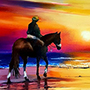 Riding Horse on the Beach - Amazing Horse Painting